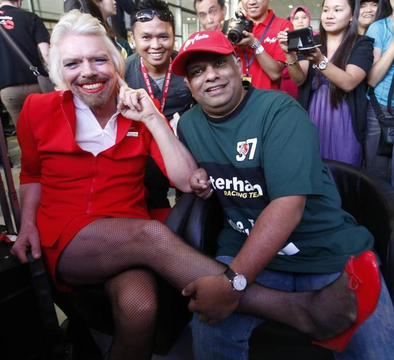 Richard Branson e Tony Fernandes