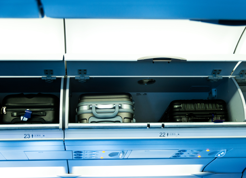 overhead luggage storage